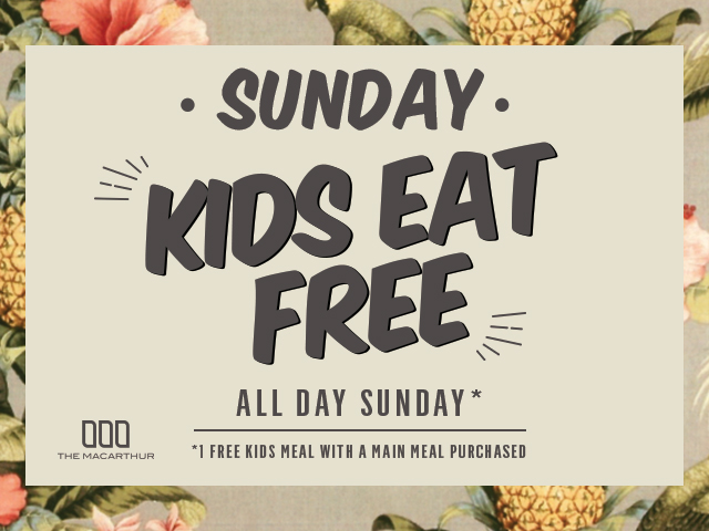 Sunday's Kids Eat Free