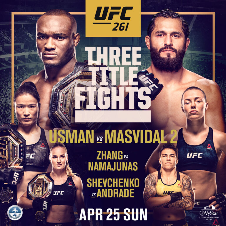 UFC 261 - Sunday April 25th 2021